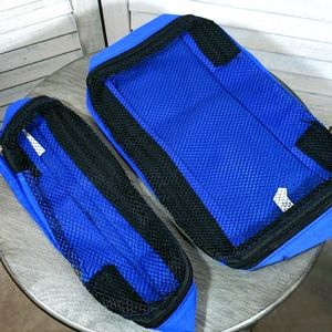NWOT Set of 2 Travel Accessory Bags Blue